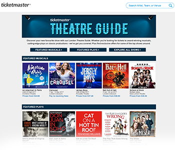 Ticketmaster - Theatre Guide
